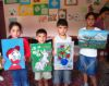 Kids with art work